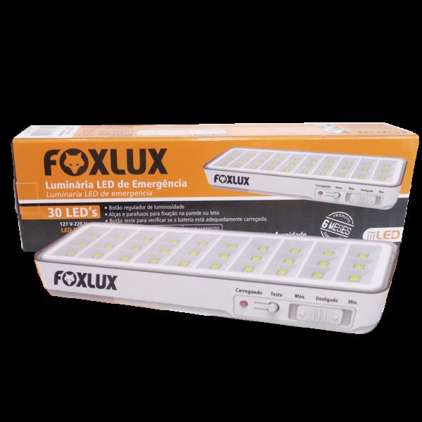 luminaria emergencia led foxlux